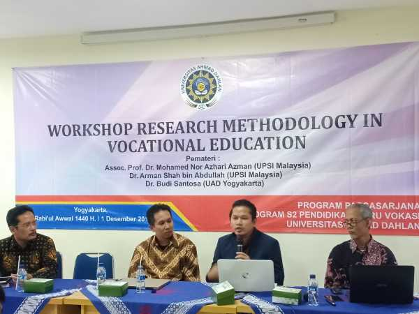 MPGV UAD Adakan Workshop Research Methodology in Vocational Education